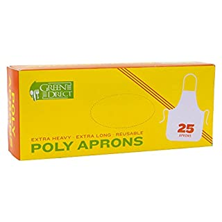Green Direct Plastic Reusable/Disposable Heavy Duty Poly Aprons - package