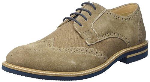 Lumberjack Herren Alonso Brogue-Schuhe Beige (Beige/Petrol)