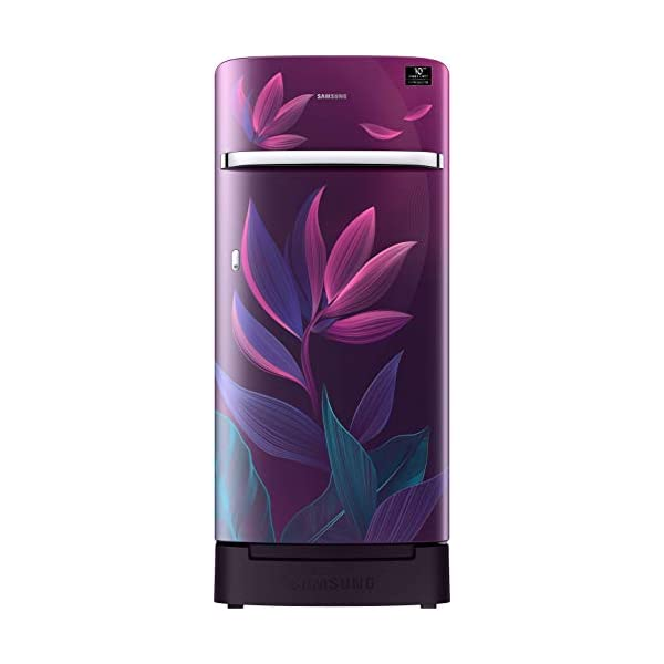 Samsung 198 L 4 Star Inverter Direct-Cool Single Door Refrigerator (RR21T2H2X9R/HL, Paradise Purple, Base Stand with… 2021 July Direct-cool refrigerator : Economical and Cooling without fluctuation Capacity 198 liters: Suitable for families with 2 to 3 members and bachelors Energy rating 4 Star : high efficiency model