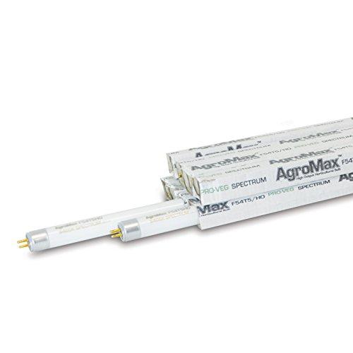8-Pack AgroMax 4 Foot (45.75'') 5,400K Super Veg T5 Fluorescent Grow Light Bulbs - (8) F54T5HO Bulbs by AgroMax