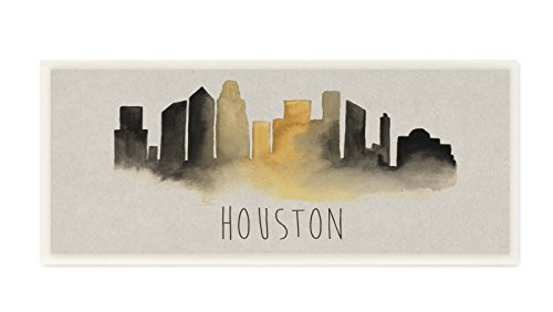 Stupell Home Décor Houston Skyline Silhouette Wall Plaque Art, 7 x 0.5 x 17, Proudly Made in USA