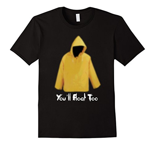 [Mens Yellow Rain Coat You'll Float Too 2017 Horror T Shirt 3XL Black] (Classy Halloween Costumes 2017)