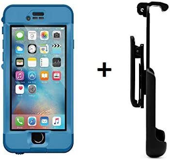 premium selection 11bfb 7fb21 Lifeproof NÜÜD Series iPhone 6s ONLY Waterproof Case - Retail Packaging -  Blue/Clear + Belt Clip Holster