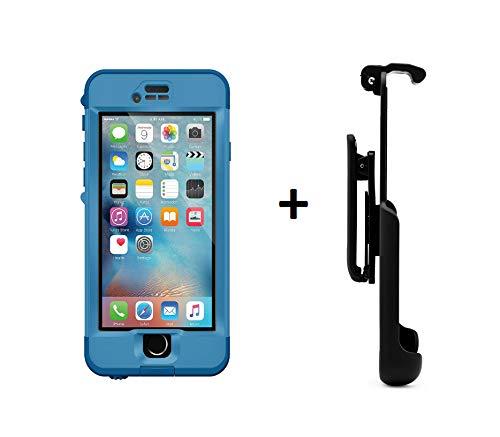 Lifeproof NÜÜD Series iPhone 6s ONLY Waterproof Case - Retail Packaging - Blue/Clear + Belt Clip Holster