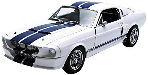 GrünLIGHT 1/18 - - - 12929 1967 SHELBY GT-500 - Weiß / Blau STRIPES 7a96f6