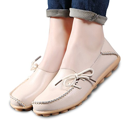 Driving 5 Cut best Shoes 4 brand Flats Toe Shoes Women Fashion Wild Breathable Casual Zapatos Beige2 show DarkBlue2 Round Outs Zapatosable Moccasins SaH5q