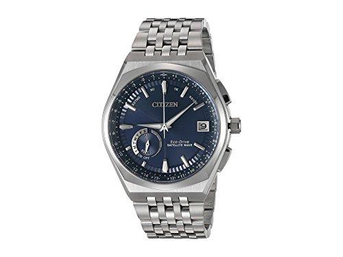 Solar Gps - Citizen Satellite Wave Blue Dial Stainless Steel Men's Watch CC302057L