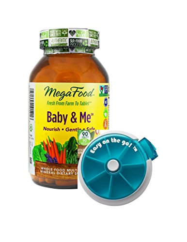 "MegaFood – Baby & Me, Prenatal and Postnatal Support for Mother and Baby, 240 Tablets – Plus Free ""Easy On the Go! TM"" Pill-box. …"