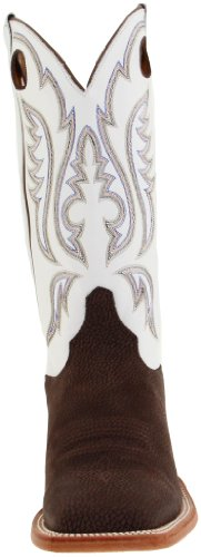 Pictures of Justin Boots Men's U.S.A. Chocolate Bisonte/White Classic 5