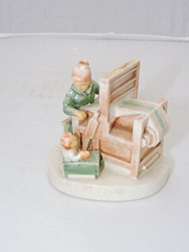 Sebastian Miniatures Figurine #6302 Weaver and Loom