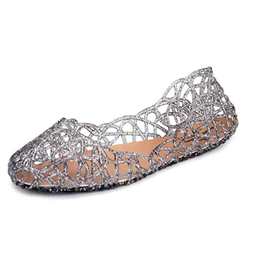 Bacain Sandals Gold Fashion Women Casual Women's Sandalias Femininas Women Mesh Jelly New Sandals Flats Shoes Micca Summer 1dfBqx1w