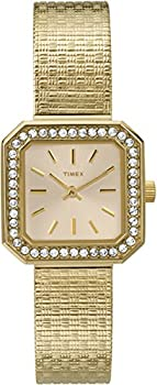Timex Gold-Tone Band White Dial Women's Watch