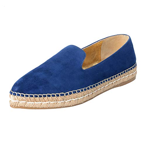 - Prada Women's Suede Leather Moccasins Loafers Flats Shoes Sz US 9 IT 39 Blue