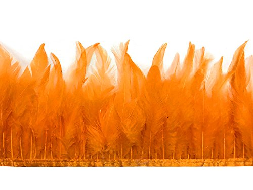 Project M All Special Costumes (Rooster Tails, Orange Rooster Neck Hackle Feather Trim - 1 Yard)