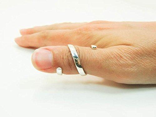 Handmade Sterling Silver RA Splint - Silver Spiral Splint - Rheumatoid Arthritis Spiral Splint - Silver R.A. Splint Ring, EDS Splint