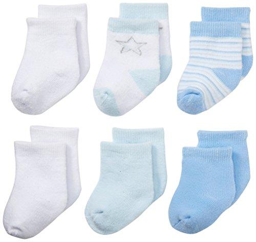 Nuby Infant 6 Pack Newborn Booties