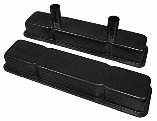 1958-86 Chevy Small Block 283-305-327-350-400 Circle Track Racing Steel Valve Covers - Black