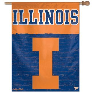 NCAA College Vault Illinois Fighting Illini 27-by-37 inch Vertical Flag
