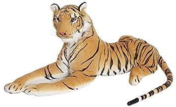 Enorme gigante extra grande de color marrón tigre peluche ...