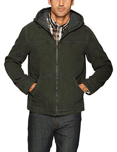 Levi's Men's Cotton Canvas Fleece Lined Hoody Jacket, Olive, X-Large - Cotton Canvas Jacket