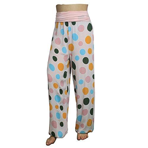 Beaucoup De D'été Pantalons Motifs Femmes 13090 A17 Pour Décontractés Rose Avec Glamexx24 Sarouel Xxl Légers y8OPN0vmnw