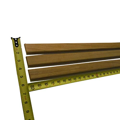 100% heartwood teak batten 60 inch x 3/8 inch thick x 1 +7/8 inch wide sanded