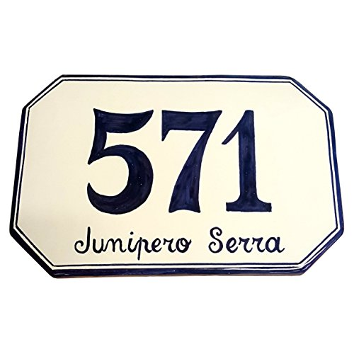 (CERAMICHE D'ARTE PARRINI - Italian Ceramic Art Pottery Tile Custom House Number Civic Address Plaques Hand Painted Made in ITALY Tuscan)