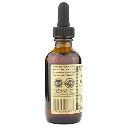 SVASTHYA BODY & MIND Pure Garcinia Cambogia Liquid Extract-Naturally Improves Mood & Helps Weight Loss, Surpress…
