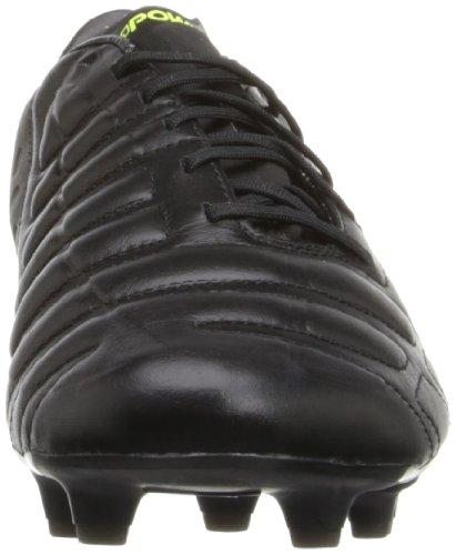 Puma Mens Evopower 1 Chaussure De Football En Cuir Ferme Au Sol Noir / Noir / Noir