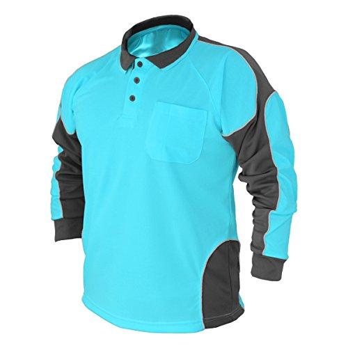Hi Vis Polo Shirt Arm Panel With Piing Fluoro Work wear Cool Dry Long - Australia Polo