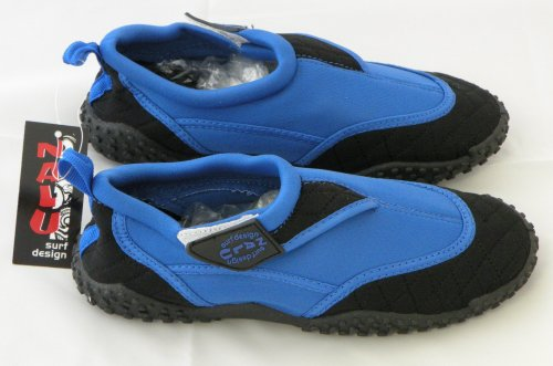 Kandy Toys Assorted Colours Adult UK Size 10 Aqua Wet Shoes Blue & Black 7qozp93nR