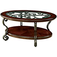 HOMES: Inside + Out IDF-4326C Elizabeth Coffee Table, Brown Cherry