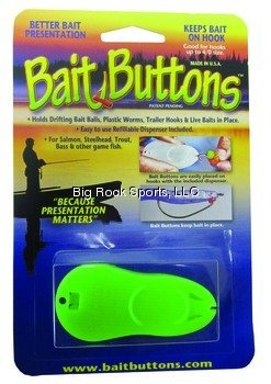 BAIT BUTTONS Original/Dispenser, Green ()