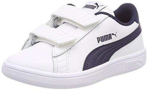V Basse Smash Da V2 peacoat Bambini L Puma – Unisex puma Ginnastica Ps White Scarpe Blu tw8a4Aq