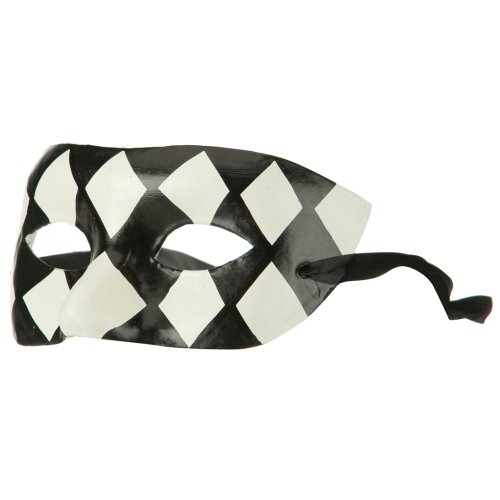 Harlequin Mask - Black White OSFM by Jacobson Hat Company