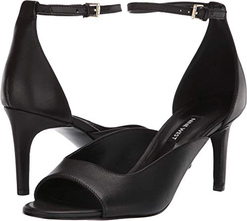 (Nine West Womens Avielle Heeled Sandal Black 9.5 M)