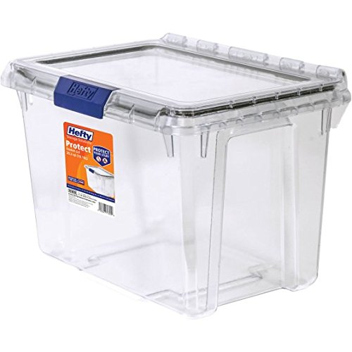 Hefty Heavy Duty Storage, 20 Qt. Lid with Protective Seal / Clear - Pack of (See Thru Bins Toy Box)