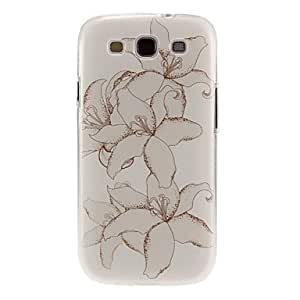 DUR Painting Jasmine Flower Pattern Plastic Protective Hard Back Case Cover for Samsung Galaxy S3 I9300