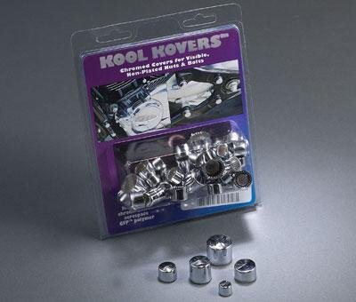 Chrome Allen Head Bolts (MC Enterprises Kool Kovers Chrome Nut And Bolt Head Covers - #5 Allen Head (10-pk) 1500-5)