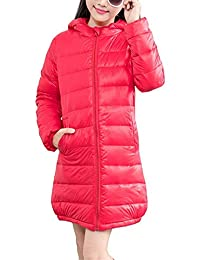 IINFINE Boy Girl Packable Down Jackets, Spring Hood Coat, Lightweight/Water-Resistant
