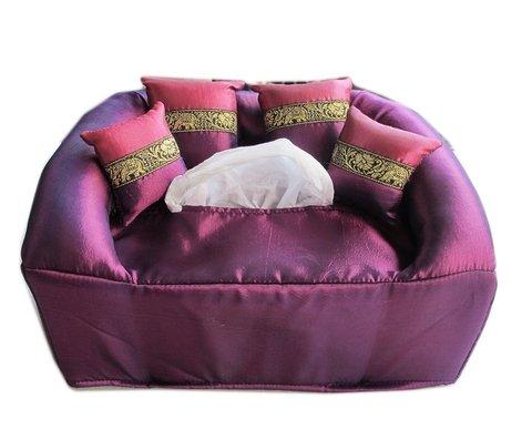 Purple Fanta Girl Costume (Handmade natural handmade box Natural Tissue Box Handmade Gift Box (Purple))