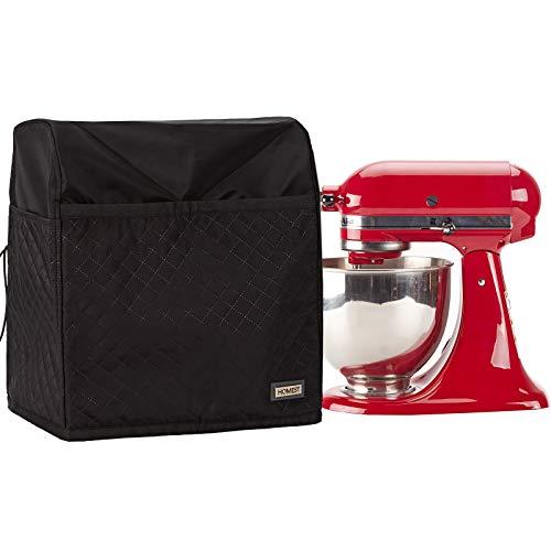 HOMEST Stand Mixer Dust Cover, Storage Bag with Pockets Compatible with KitchenAid Tilt Head & Bowl Lift Models (Black, Fit for Tilt Head 4.5-5 Quart) (Patent Design)