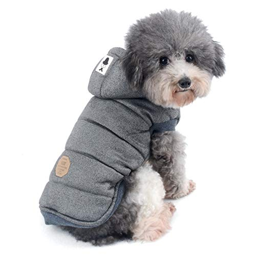 Ranphy Cotton Fleece Small Dog Jackets Hoodie for Cold Weather Girl Boy Puppy Cat Winter Coat Sweater 2 Leg Hooded…