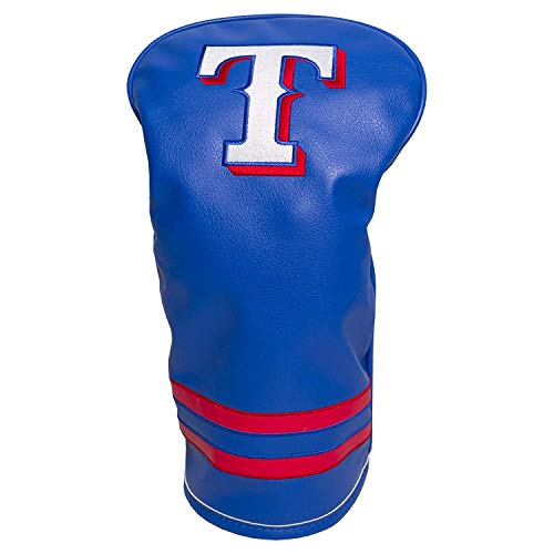 Team Golf MLB Texas Rangers Vintage Driver Golf Club Headcover, Form Fitting Design, Retro Design & Superb Embroidery ()