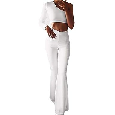 Moonuy Femme Pantalon Extensible Coupe Évasée Moderne Facile à Enfiler  Bootcut Taille Haute Pantalon Décontracté Élégant