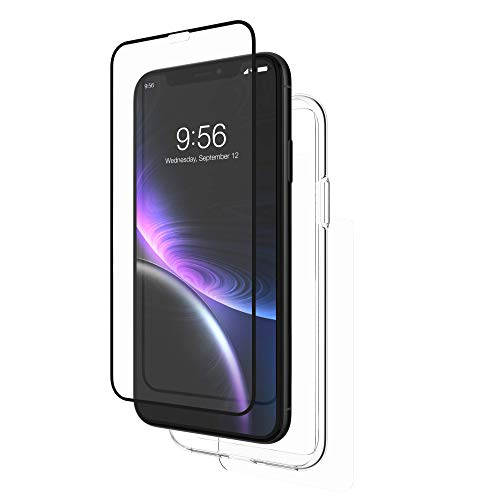 ZAGG InvisibleShield Glass+ 360 - Front + Back Screen Protection with Side Bumpers Made for Apple iPhone XR - Black, Clear by ZAGG (Image #3)