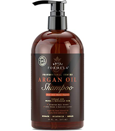 (Royal Formula - Moroccan Argan Oil Shampoo [Sulfate Free] Infused with BIOTIN - Moisturizing & Volumizing Shampoo SAFE for Color-Treated Hair, Best for Thinning Hair Regrowth for Men & Women 16 Fl. Oz )