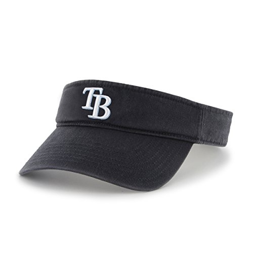 MLB Tampa Bay Rays Clean Up Adjustable Visor, One Size, Navy