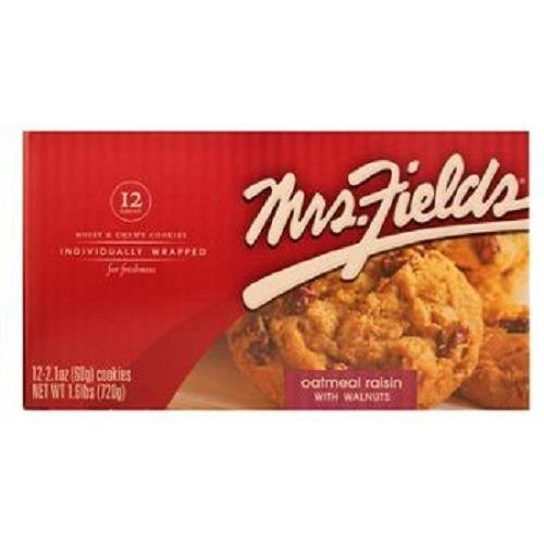 MRS FIELDS OATMEAL RAISIN W/WALNUTS 2.1 oz Each ( 12 in a Pack ) by Mrs. Fields