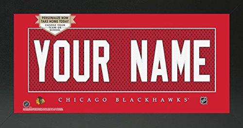 Amazon.com - Chicago Blackhawks NHL Custom Jersey Nameplate Framed ... 83e9e07c1
